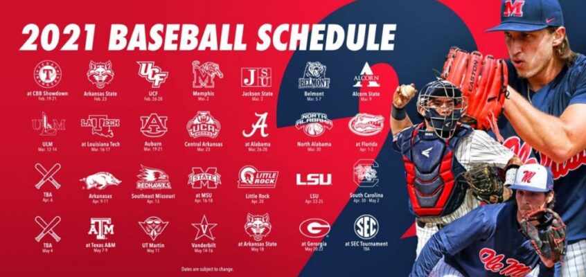 Ole Miss, Mississippi State drop 2021 baseball schedules